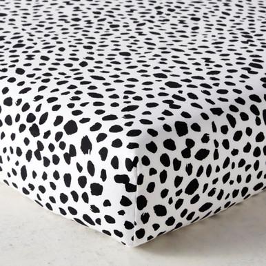 Ink Dot Crib Sheet - Black