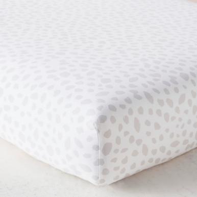 Ink Dot Crib Sheet - Grey