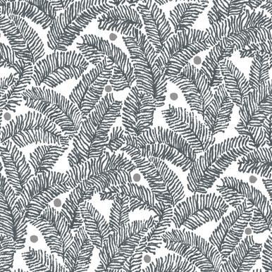 Athina Grey Fern Wallpaper