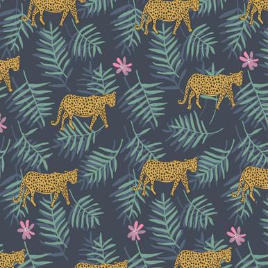 Exempel Cheetah Charcoal Wallpaper