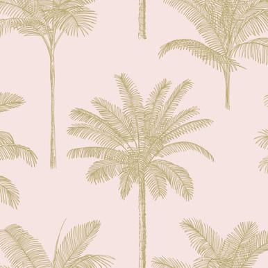 Taj Palm Trees Blush Wallpaper
