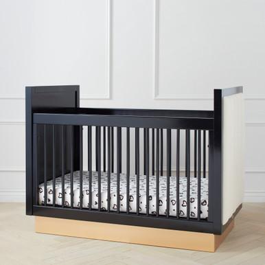 Astoria Crib - Black/Gold/Lily White