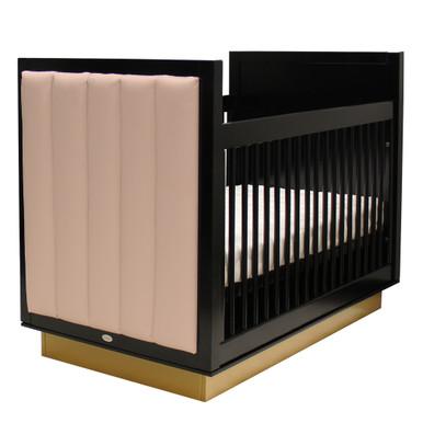Astoria Crib - Black/Gold/Angel Pink