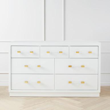 Astoria 7 Drawer Dresser - White