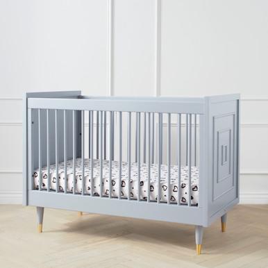 Uptown Crib - French Grey