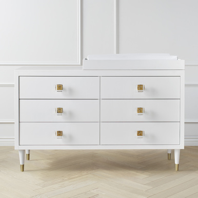 Uptown 6 Drawer Dresser - White