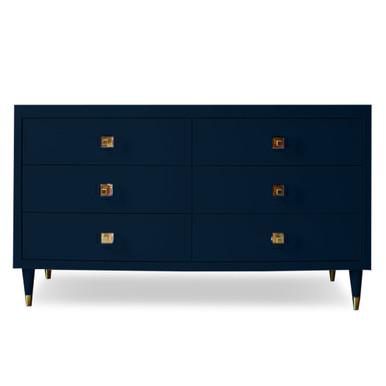 Uptown 6 Drawer Dresser - Deep Blue