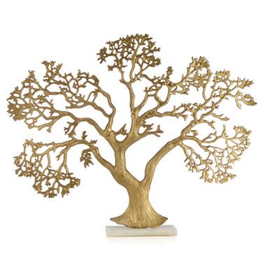 Golden Tree On Marble