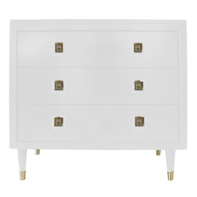Uptown 4 Drawer Dresser - White
