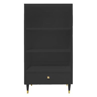 Uptown Bookcase With Drawer - Black