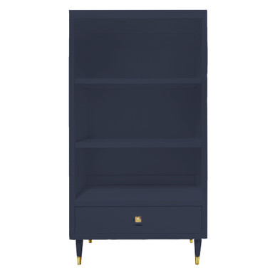 Uptown Bookcase With Drawer - Deep Blue