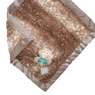 Luxie Pockets Fawn With Monkey + Caramel Teether