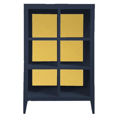 Devon Bookcase - Deep Blue/Gold