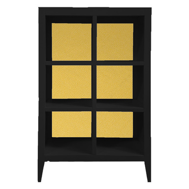 Devon Bookcase - Black/Gold