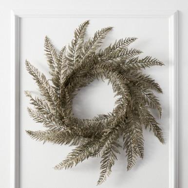 Metallic Fern Wreath