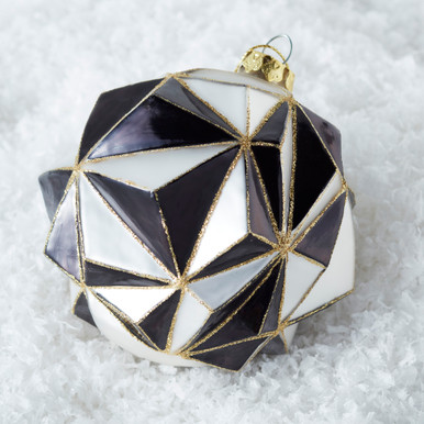 Faceted Ornament - Black/White