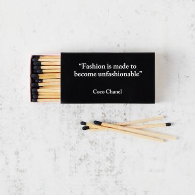 Fashion Coco Chanel Matches