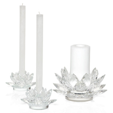 Crystal Lotus Candlelight Collection