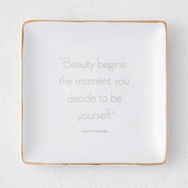 Beauty Begins Trinket Tray