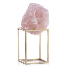 Rose Quartz On Metal Stand