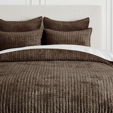 Mardon Velvet Bedding - Grey Mocha
