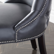Versailles Leather Dining Chair - Espresso