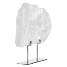 Selenite Slab On Metal Stand