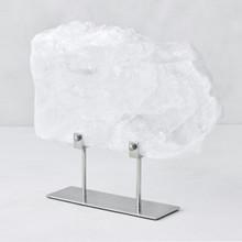 Selenite Slab On Metal Stand