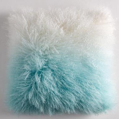"Ombre Mongolian Pillow 22"""