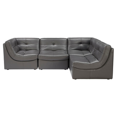 In Stock - Leather Sectional - 4 PC