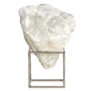 Selenite Cloud On Metal Stand