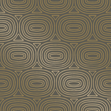 Ovals Bronze Wallpaper
