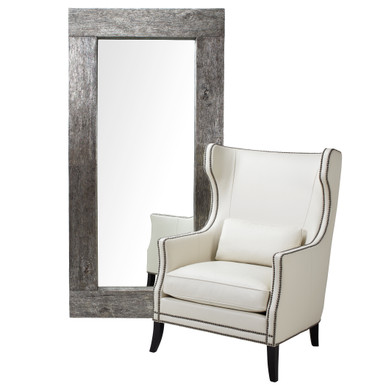 Timber Leaner Mirror