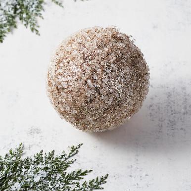 Ice Glitter Ball Ornament