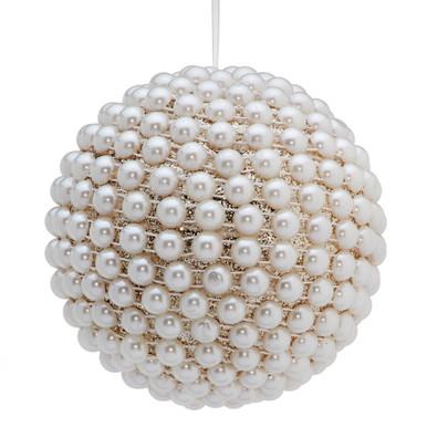 Pearl Glitter Ball Ornament