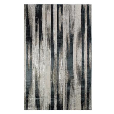 Avaris Rug - Black/Silver