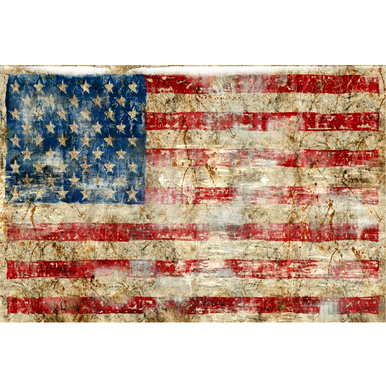 American Flag - Glass Coat