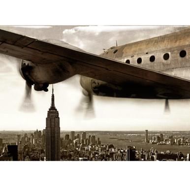 Wings Over Manhattan - Glass Coat