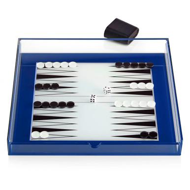 Acrylic Backgamon/Chess Set