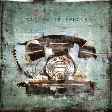 Vintage Telephone - Glass Coat