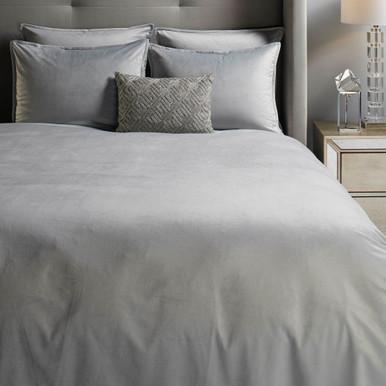Windsor Velvet Bedding - Silver