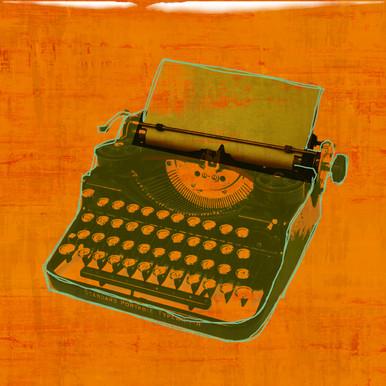Digital Deco Typewriter - Glass Coat