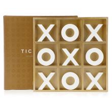 Tic Tac Toe Game - Gold & White
