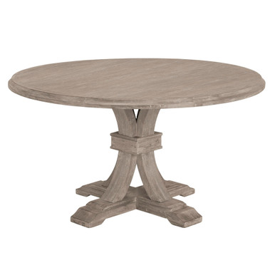 Archer Natural Grey Fixed Pedestal Dining Table