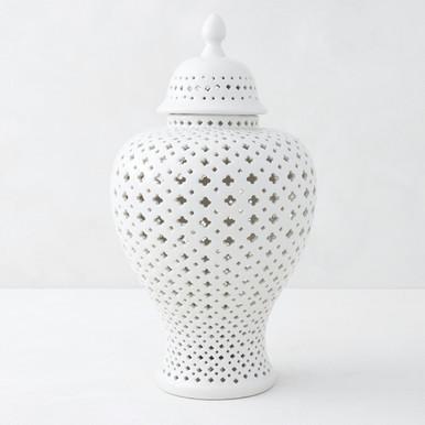 Ceramic Filigree Jar