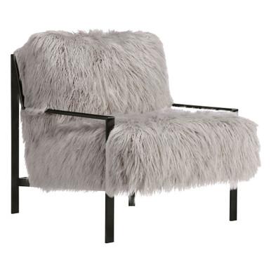 Axel Fur Accent Chair - Black