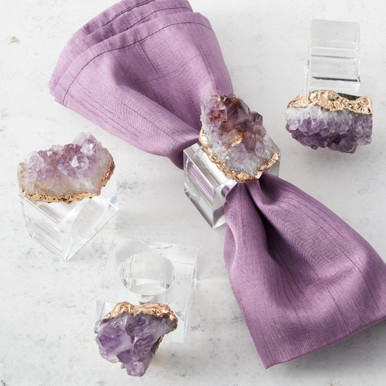 Amethyst Napkin Ring - Set of 4