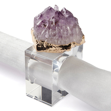 Amethyst Napkin Ring - Set of 4