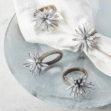 Starburst Napkin Ring - Set of 4