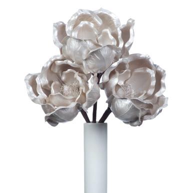 Faux Large Magnolia Stem - Set of 3